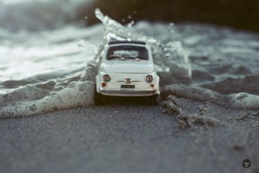 FIAT in the surf by Justinlite