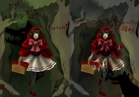 Little Red Riding Hood - Light and Dark by 7AirGoddess3