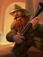 Brann Bronzebeard - Hearthstone League of Explorer by PlanK-69