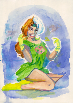 Rogue-Bed time Watercolors by fkaleo