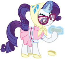 Rarity's Camping Outfit by Midnight--Blitz