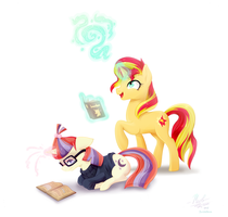 Magic Studies (Collab with JumbleHorse) by Wolly-Dream