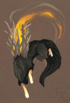 Esk- ember creature by lackofa
