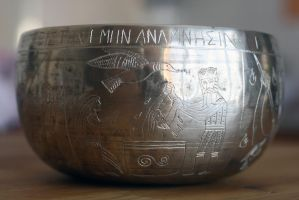 Engraved Lord's Supper Kettle side 4 by Dewfooter
