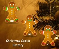 Christmas Cookie Battery for xwidget by Jimking