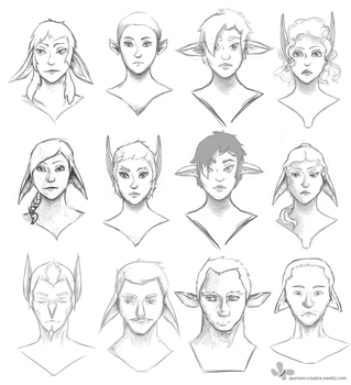 Bust Concepts by Azrelae