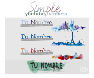 Simple Youtuber Banners {PSD} by Julieta7599