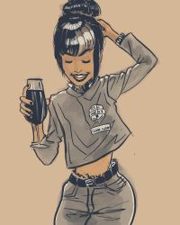 Drinking girl by elcoruco1984