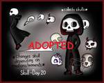 Day 20 - Skull Adopt (CLOSED) by Adopt-From-Frog