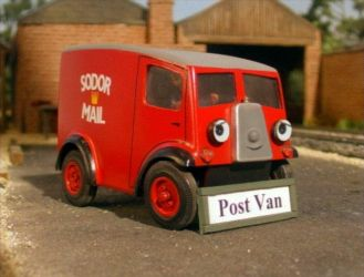 post van with face by fastforwardtt