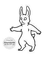 Paint-Friendly Anthro Bunny Lines (FREE USE) by Adoptadpoles