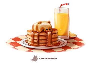 Daily Paint #1271. Pandcakes by Cryptid-Creations