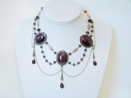 Amethyst Gothic necklace by xNatje
