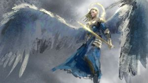 Angel by conorburkeart