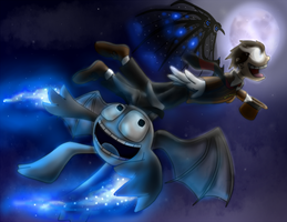 Flying at Night by NazFro24-2