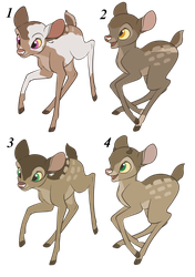 Fawn Adopts Set 1 (3/4 OPEN) Price Lowered by ShadowDawn93