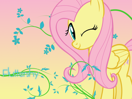 Fluttershy Wallpaper by Swordbeam