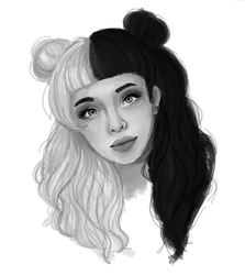 Melanie Martinez (ms paint portrait) by bun-niii