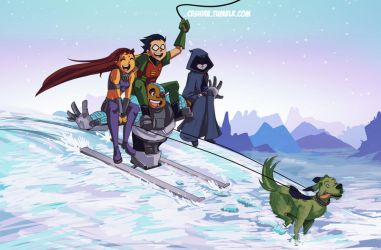 Teen Titans Second Christmas! by Ceshira