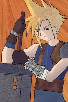 Final Fantasy: Cloud Strife by Featherae33