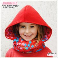 Hooded Scarf - Kids - Red Riding Hood by shiricki