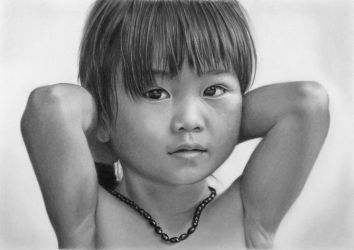 Pencil portrait of Tam Nhu by LateStarter63