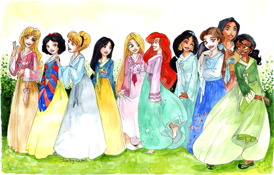 44444- Princesses in hanboks by TaijaVigilia
