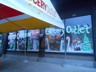 Grocery Outlet 2012 The whole window. by Firefaryee