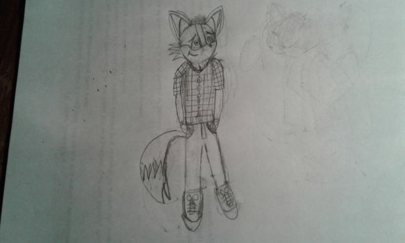 David the wolf (Sketch) by faithslayer202