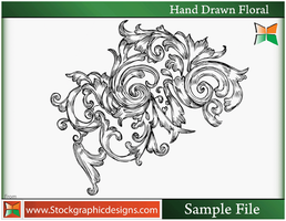 Set-3 Hand Drawn Floral Brush by Stockgraphicdesigns