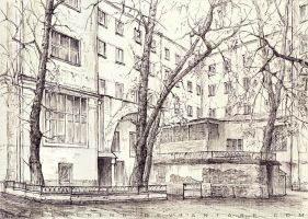 The Moscow courtyard by AncientKing