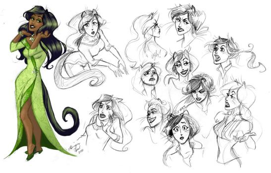 Sloppy Sketches of Katerina by GingerOpal