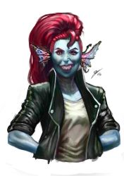 Speed Painting Undyne by NuriaVelasco