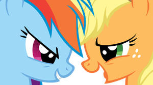 Applejack and Rainbow Dash: Fall Weather Friends by Are-you-jealous