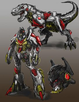 Grimlock Redesign by Diovega