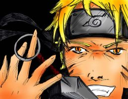 Naruto Sketch - Colored by Destinyknights