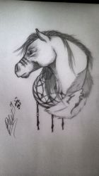War horse by PaintedWulf1435