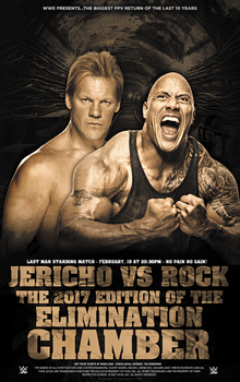Jericho vs Rock - Elimination Chamber 2017 by GherdezGFX