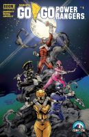Go Go Power Rangers #1 CSCC Exclusive Cover by IanNichols