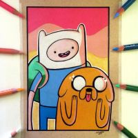 Adventure Time Drawing - Finn and Jake by LethalChris