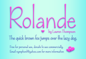 Rolande Font Family by nymphont