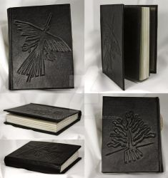Leather-bound journal Nazca lines
