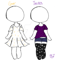 Trellis And Gabi Outfits - Adoptables by OliviaCxt