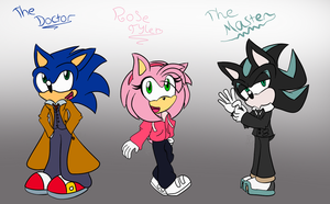 Sonic/Doctor Who Characters - 1 by Toxikku