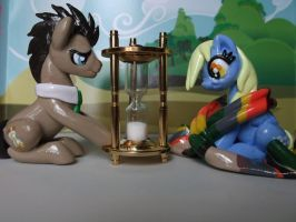 Doctor Whooves and Derpy Hooves by DeadHeartMare