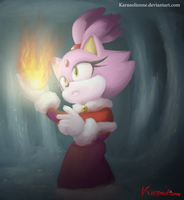 The fire  in the cold by Karneolienne