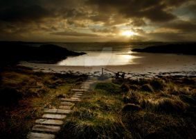 Sunset over Eigg by ArwensGrace