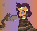 Kaa and Saffron by LunaHazACookie