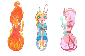 Adventure Time girls by uialwen