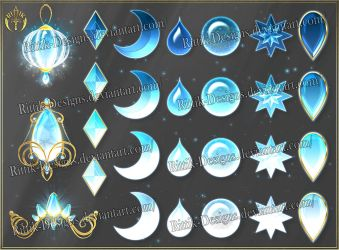Colorful Gems - light blue (downloadable stock) by Rittik-Designs
